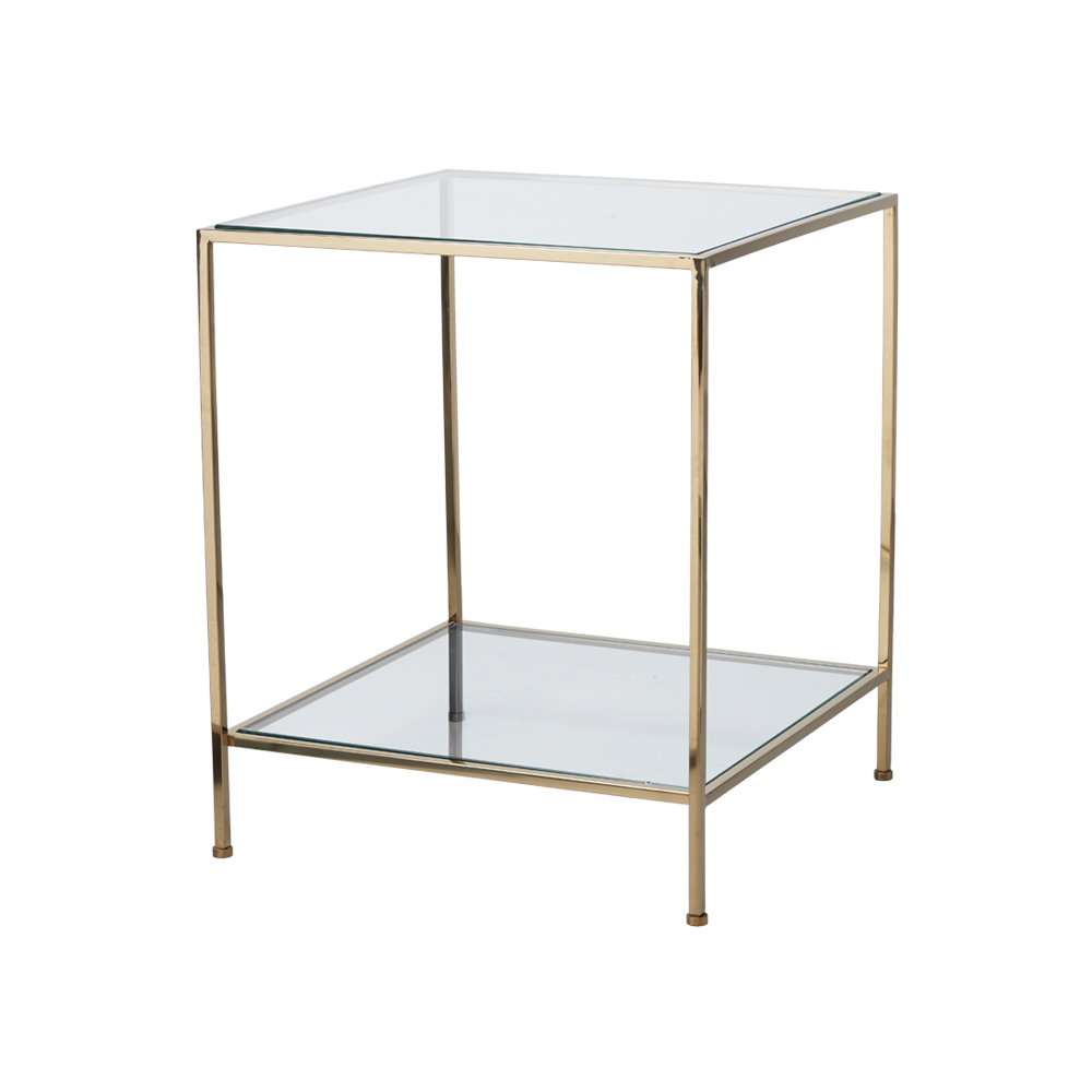 Fleur Side Table Large – Polished Brass
