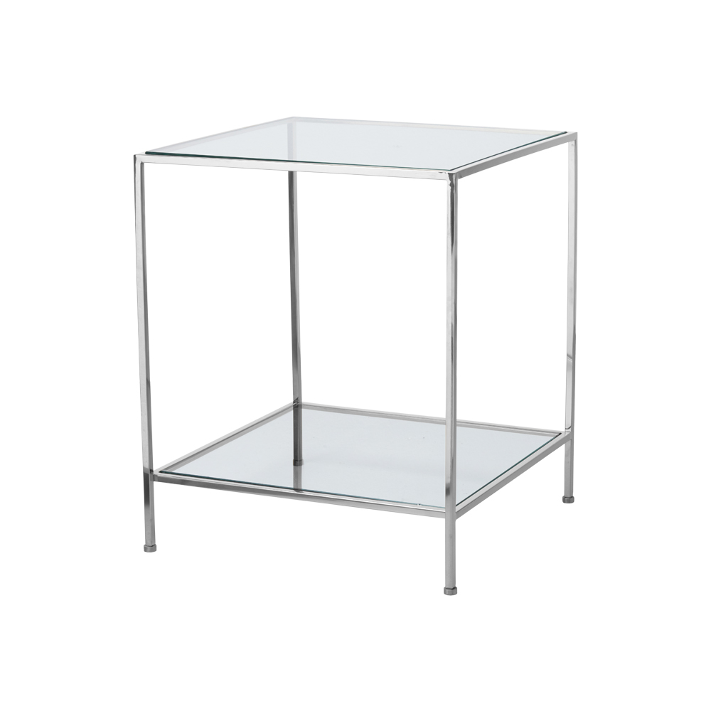 Fleur Side Table Large – Chrome