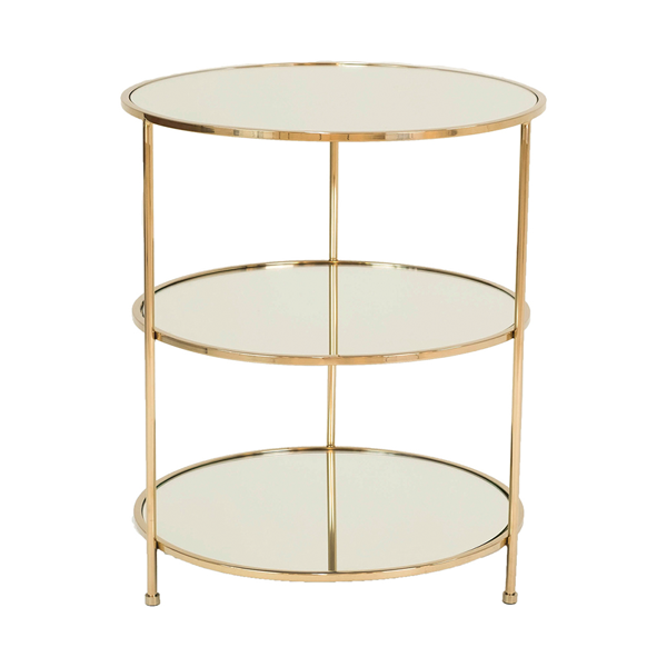 Layer Side Table – Polerad Mässing