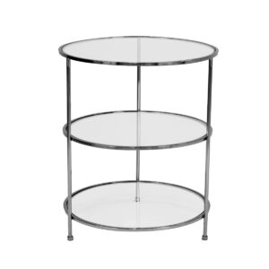 Layer Side Table – Black Chrome