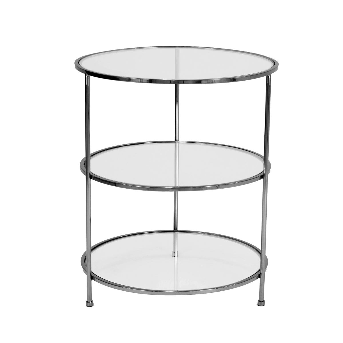 Layer Side Table – Svart Krom