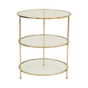 Layer Side Table – Polished Brass