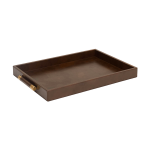 Luca Leather Tray Large – Brun