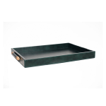 Luca Leather Tray Large – Grön