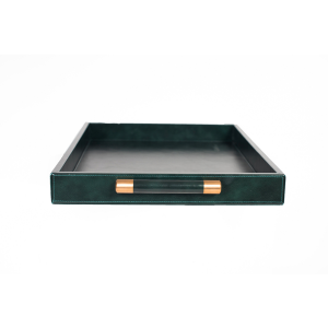 Luca Leather Tray Large – Green