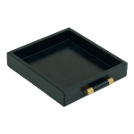 Luca Leather Tray Small – Blå