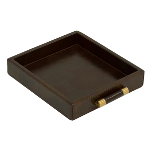 Luca Leather Tray Small – Brown