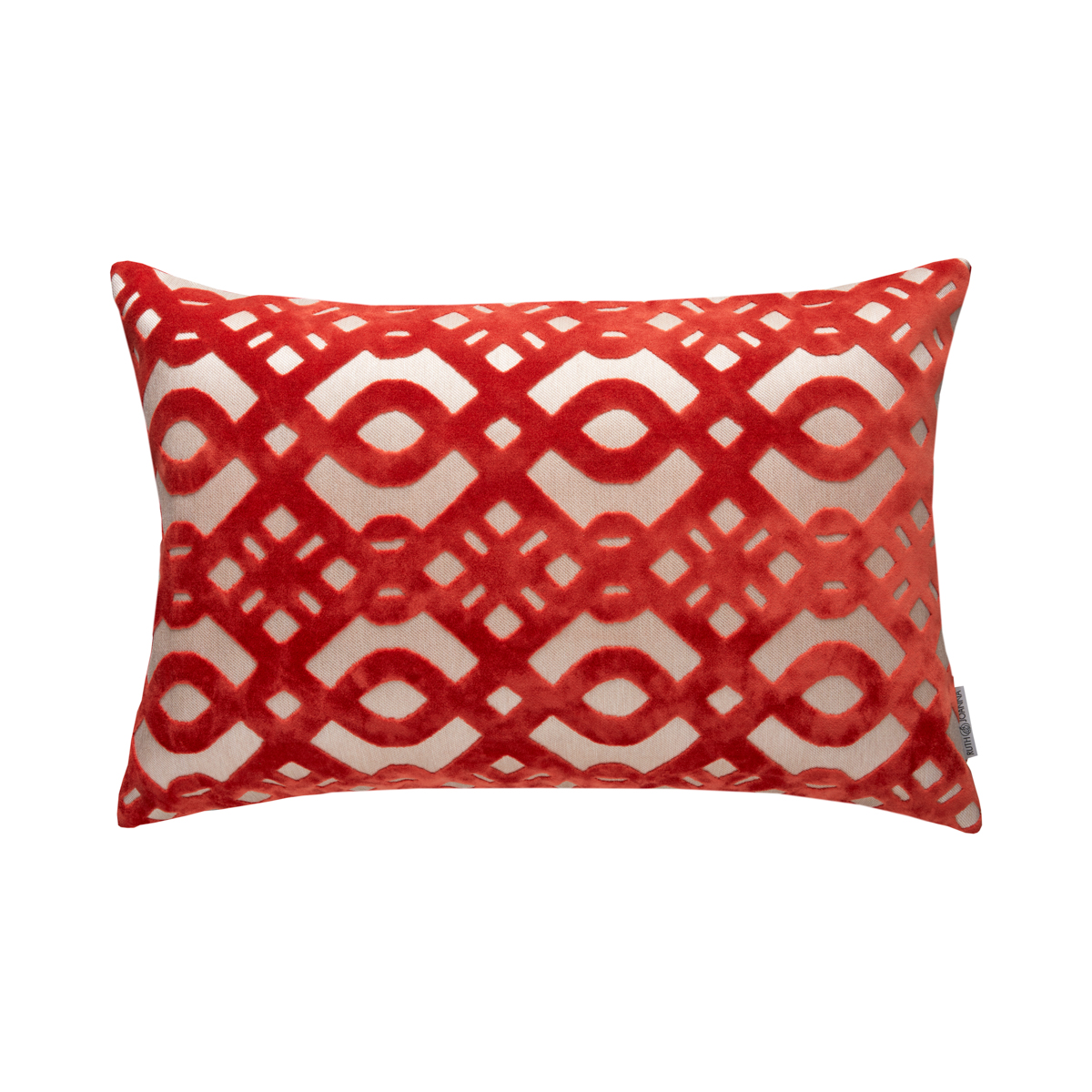 Orange Wave Pillow