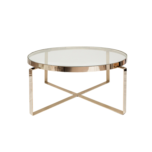 Ozo Coffee Table – Polished Brass