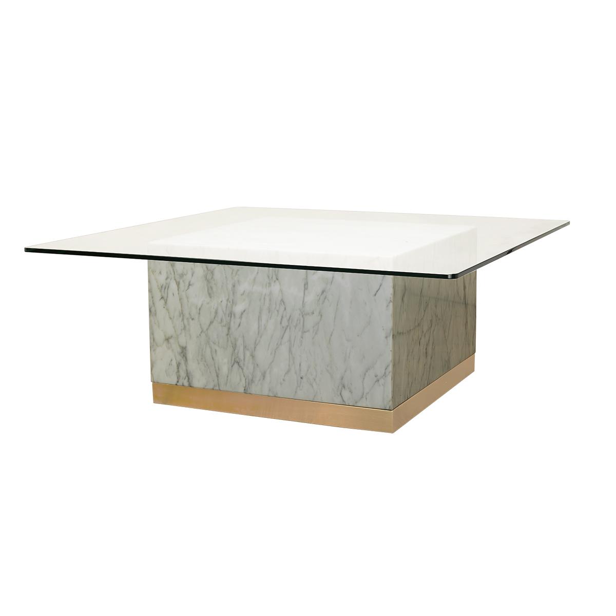 Quebec Coffee Table – White Carrara Marble