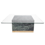 Quebec Coffee Table – Green Marble