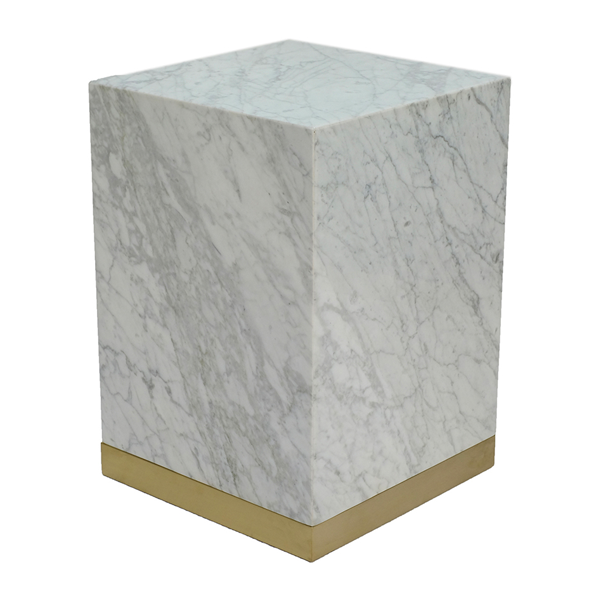 Quebec Side Table – Vit Carrara Marmor