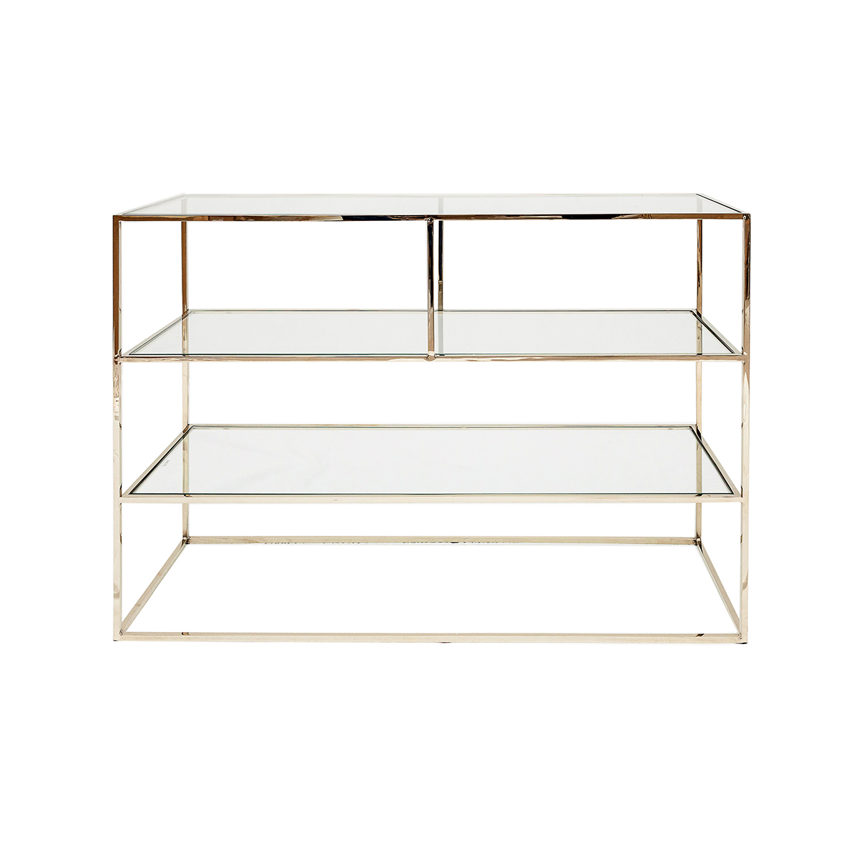 Shelby Console Table – Polished Brass