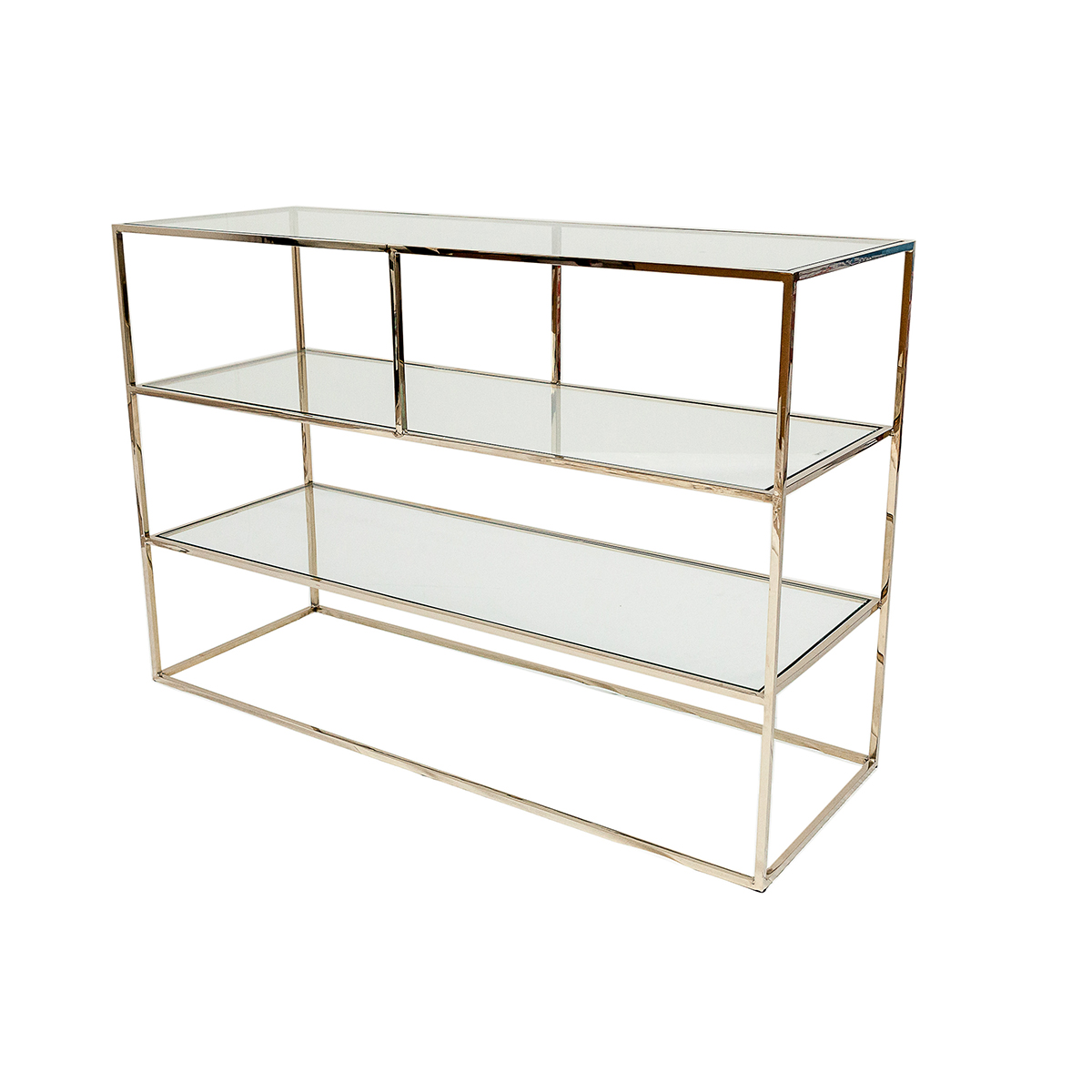 Shelby Console Table – Polerad Mässing