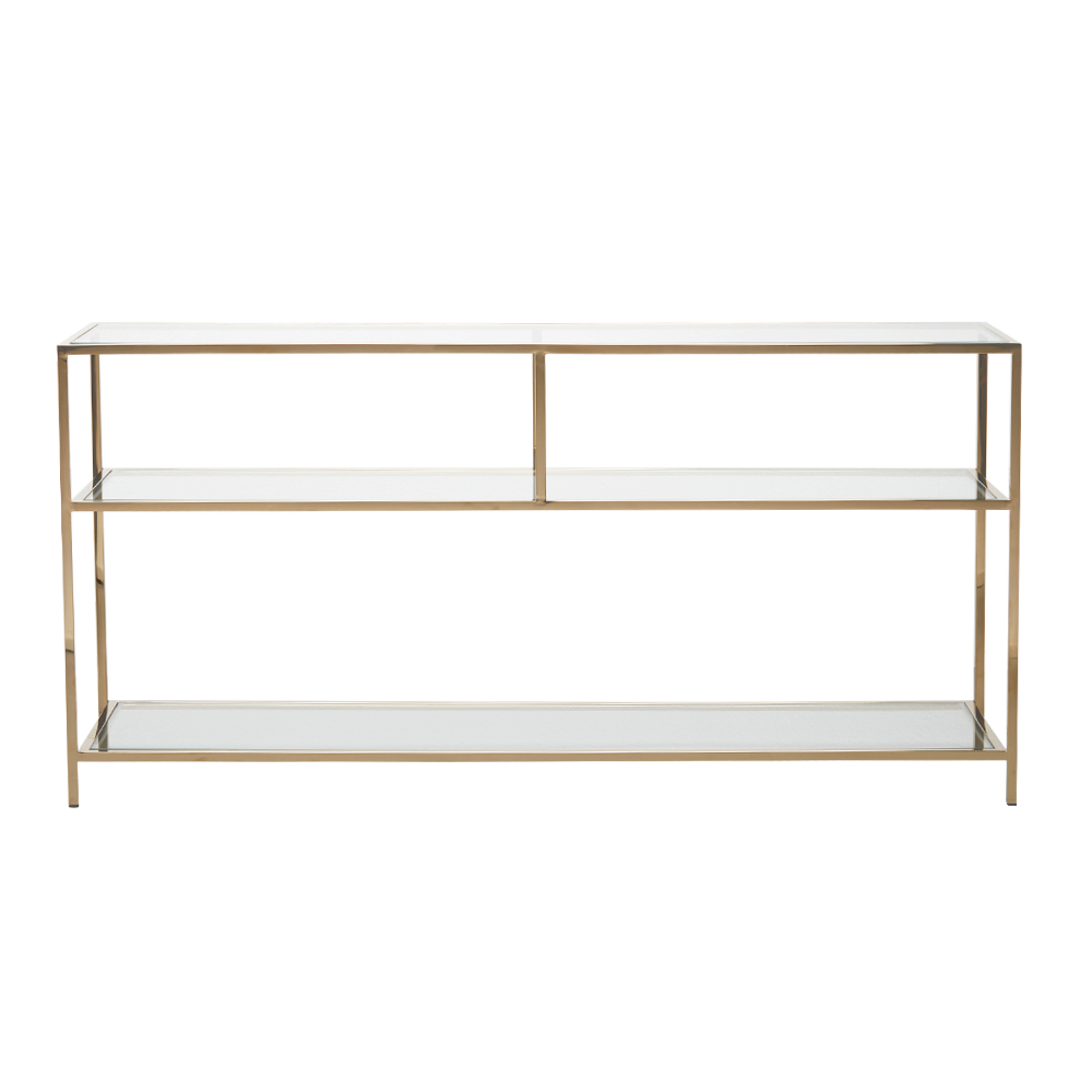 Shelby Console Table Large – Polished Brass