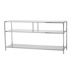 Shelby Console Table Large – Chrome