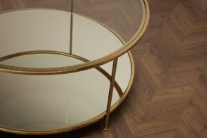 Sphere Coffee Table – Polished Brass