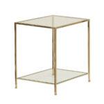Fleur Side Table Large – Polished Brass