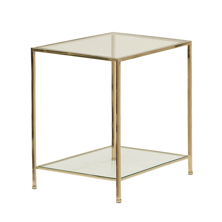 Fleur Side Table Large – Polerad Mässing