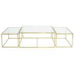 Three Set Table Large – Polished Brass