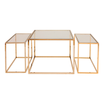 Three Set Table – Polished Brass