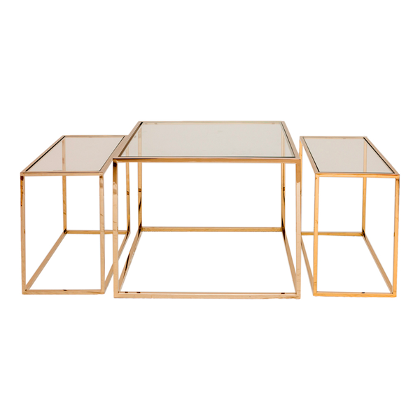 Three Set Table – Polerad Mässing