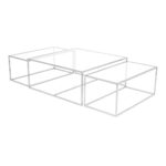 Three Set Table Large – Chrome