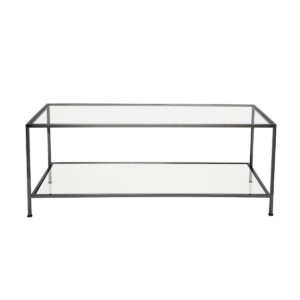 Wing Coffee Table – Black Chrome