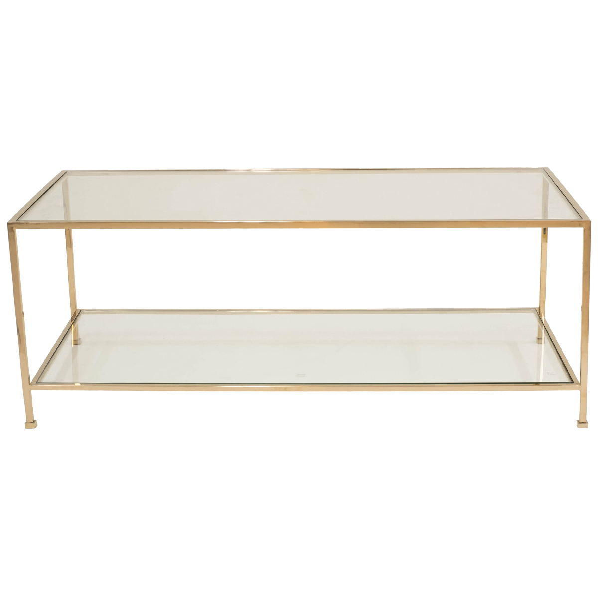 Wing Coffee Table – Polished Brass